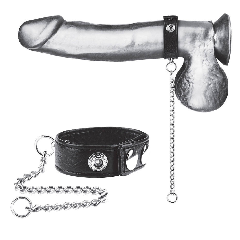 """Snap Cock Ring W/ 12"""" Leash"""