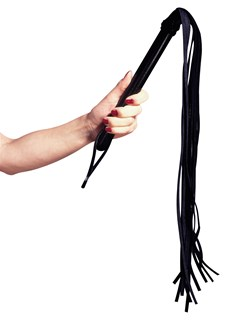 Leather Flogger Wooden Handle