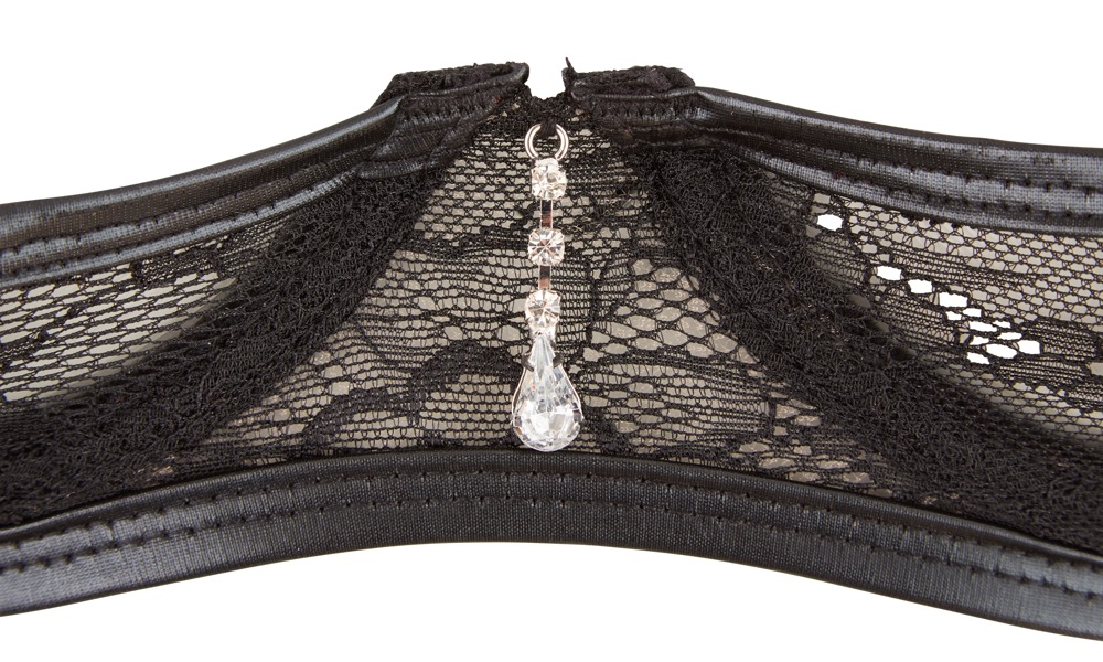 Lace Shelf Bra with Wetlook Details