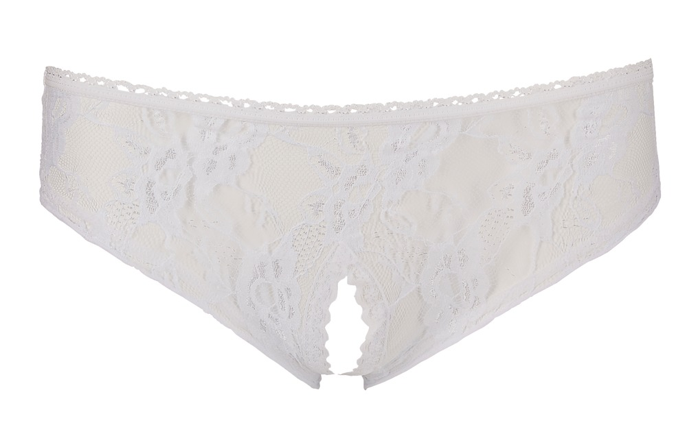 Crotchless Panties White
