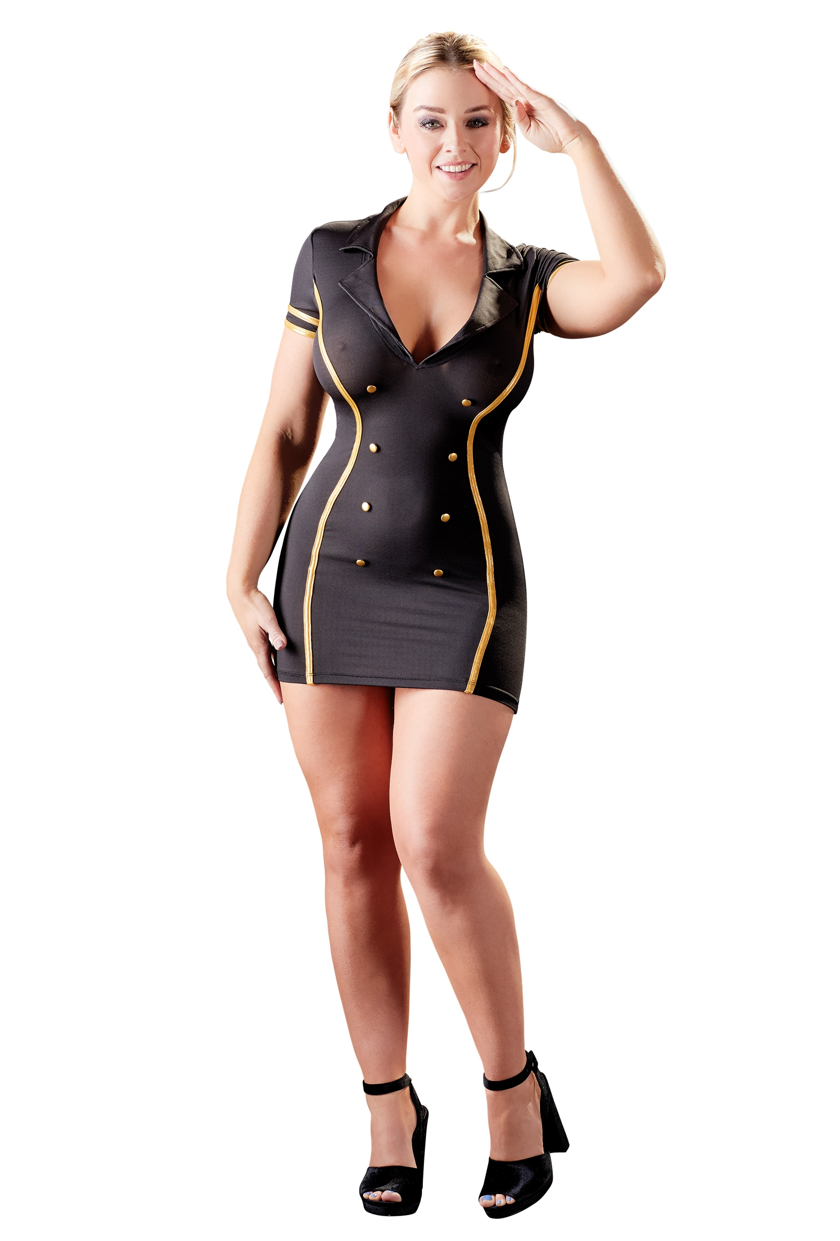 Stewardess Dress | LINGERIE & KLÄDER, KLÄDER TJEJ, Rollspel & Maskerad, Brands, Cottelli Collection | Intimast.se - Sexleksaker