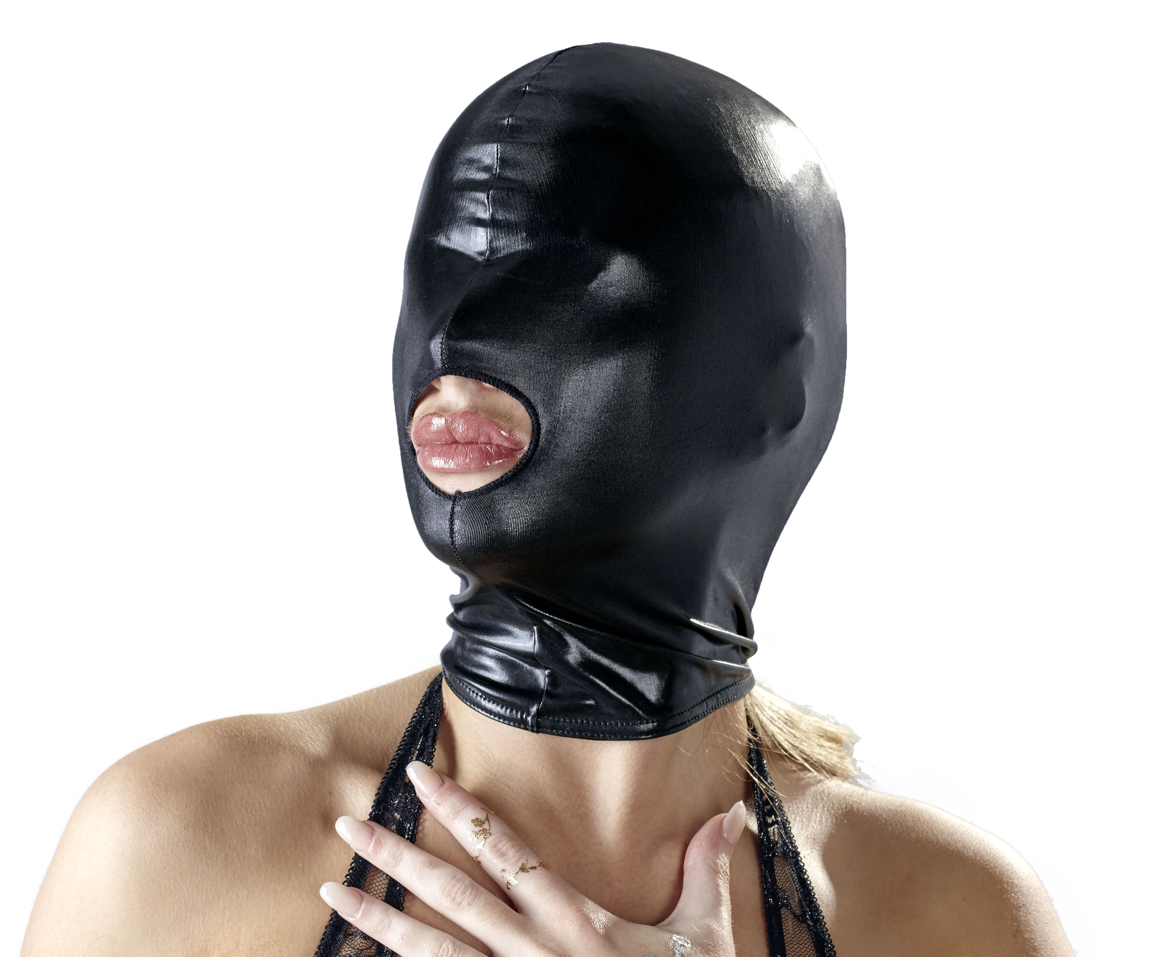 Wetlook Open Mouth Mask | SEXLEKSAKER, BONDAGE & FETISH, Masker & Ögonbindlar, Brands, Bad Kitty | Intimast.se - Sexleksaker