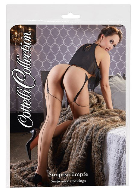 Nude Stockings with Black Back Seam