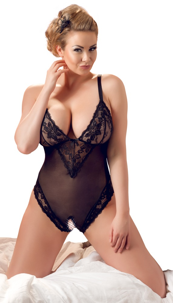 Plussize Crotchless Body | LINGERIE & KLÄDER, PLUSSIZE, Body & Playsuits, Brands, Cottelli Collection, Cottelli Collection Plus | Intimast.se - Sexleksaker
