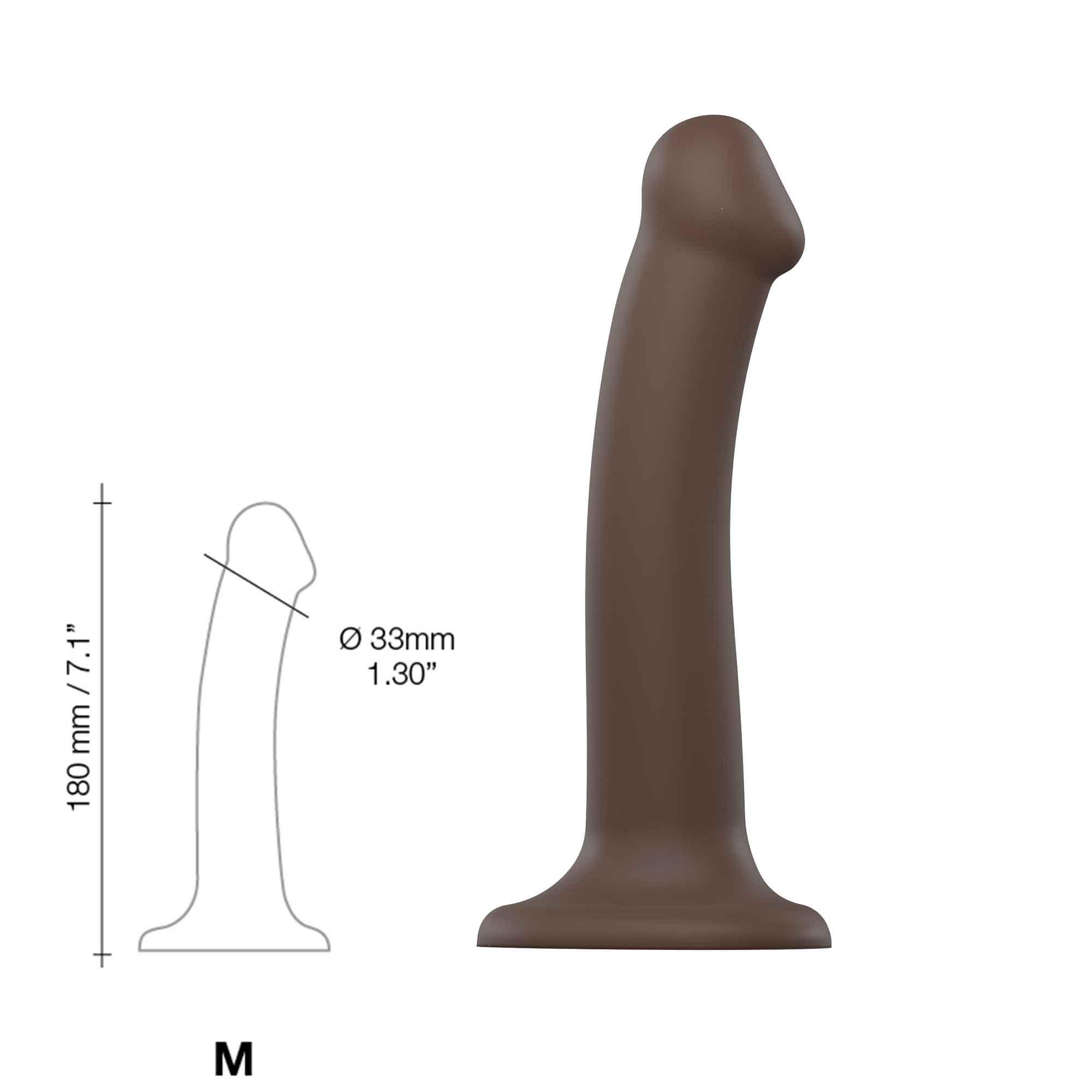 Böjbar Dildo Dual Density Medium - 18 cm   SEXLEKSAKER, MEST FÖR HENNE, Dildos & Dongar, Dildos med sugkopp, Realistiska Dildos   Intimast.se - Sexleksaker