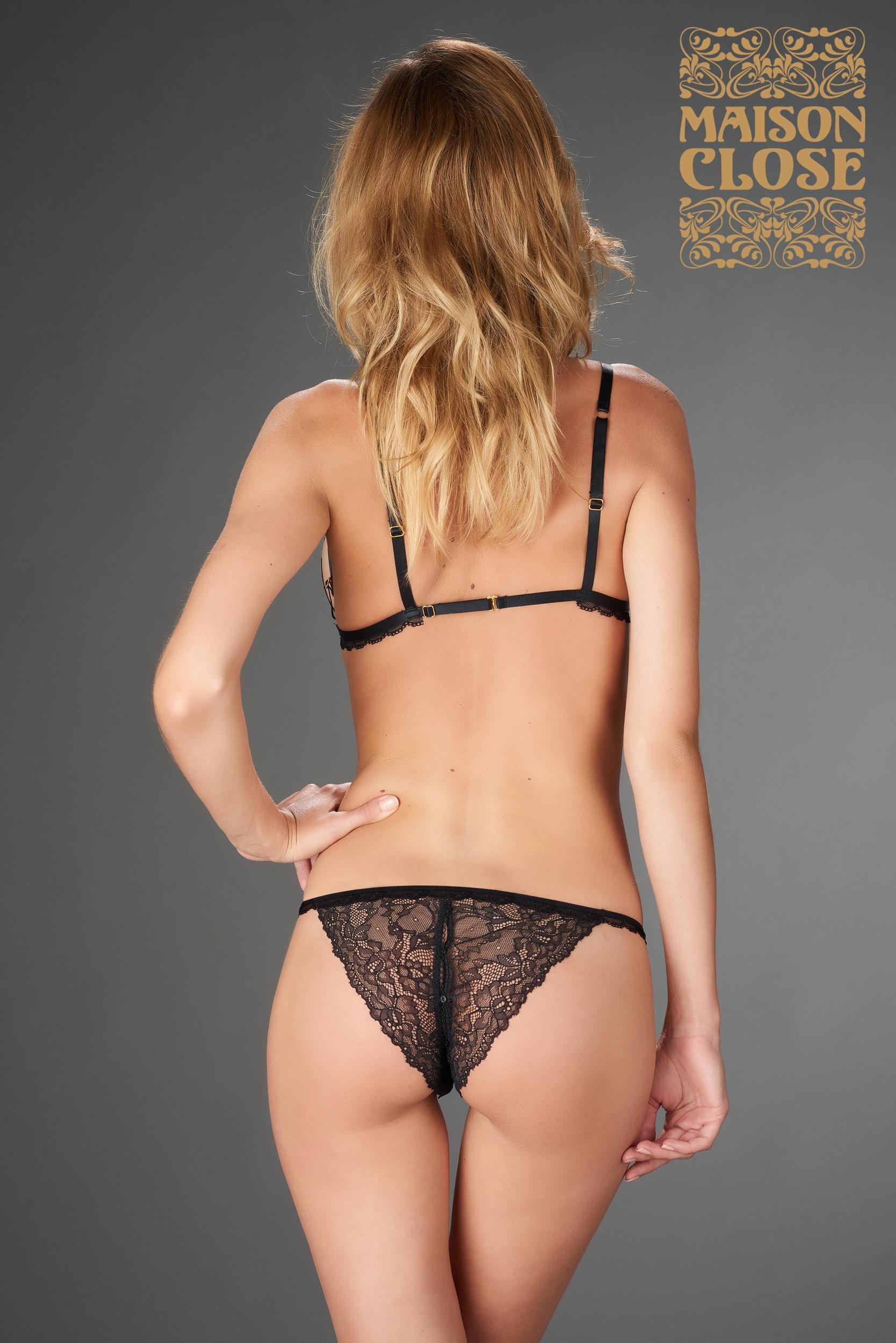 LE PETIT SECRET - OPENABLE TANGA - BLACK | Brands, Maison Close, LINGERIE & KLÄDER, SEXIGA UNDERKLÄDER, Sexiga Trosor | Intimast.se - Sexleksaker