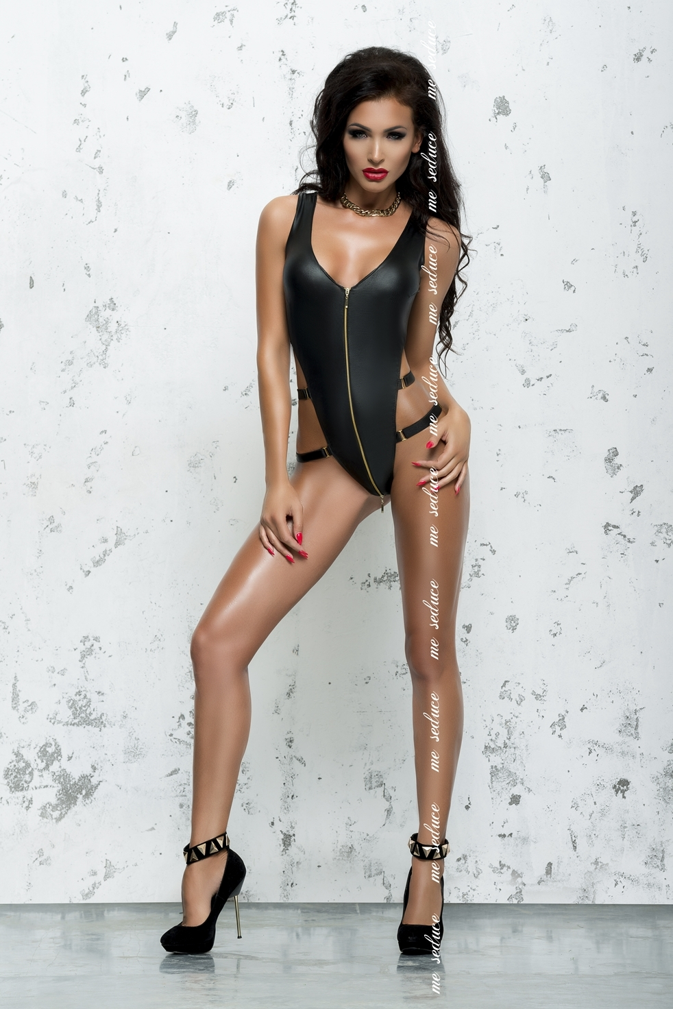Bond Me - Blanche Black | LINGERIE & KLÄDER, FETISHKLÄDER TJEJ, Fetishkläder Plussize, Brands, Me Seduce, Fetish Body & Playsuits, SEXIGA UNDERKLÄDER, Bodys, Catsuits & Playsuits, PLUSSIZE | Intimast.se - Sexleksaker