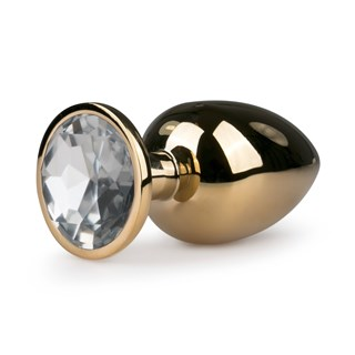 Metal Butt Plug No.6 - Gold/Clear