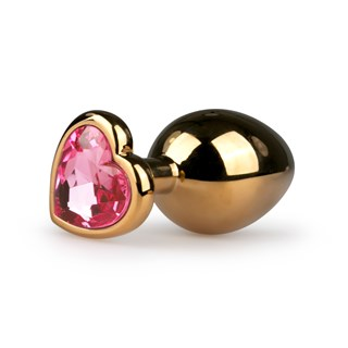 Heart Butt Plug No.7 -Gold/Pink