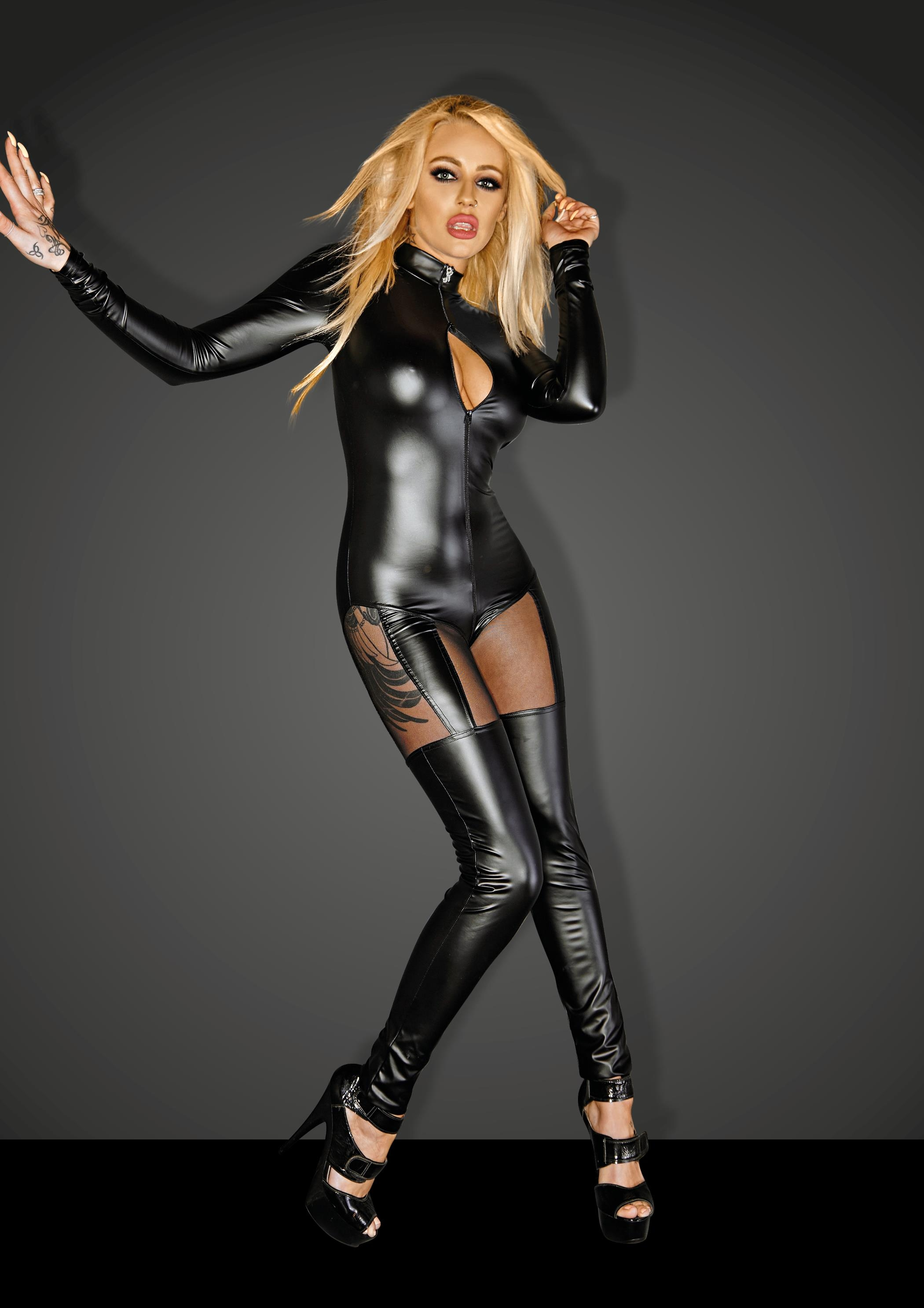 QUEEN Wetlook Catsuit | LINGERIE & KLÄDER, FETISHKLÄDER TJEJ, Fetish Body & Playsuits | Intimast.se - Sexleksaker