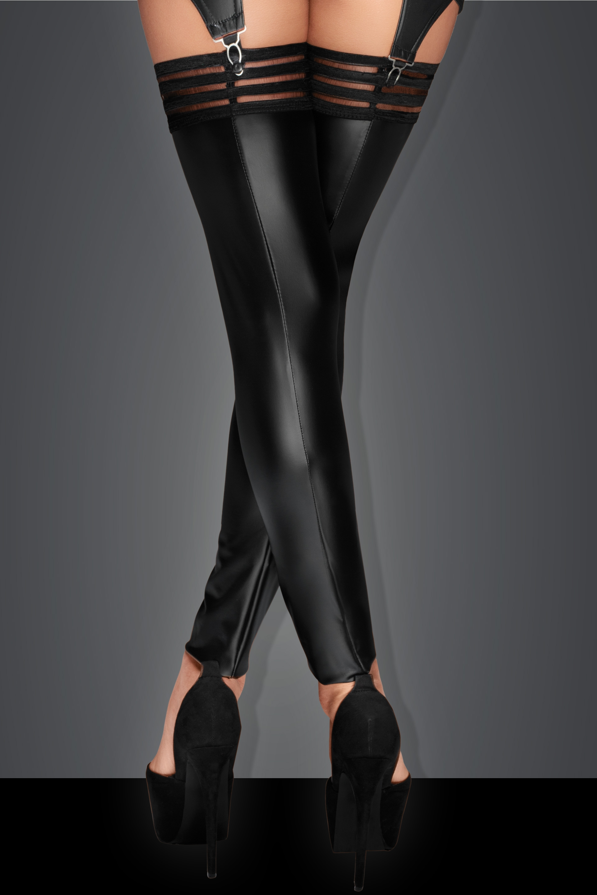 Noir Power Wetlook Stockings