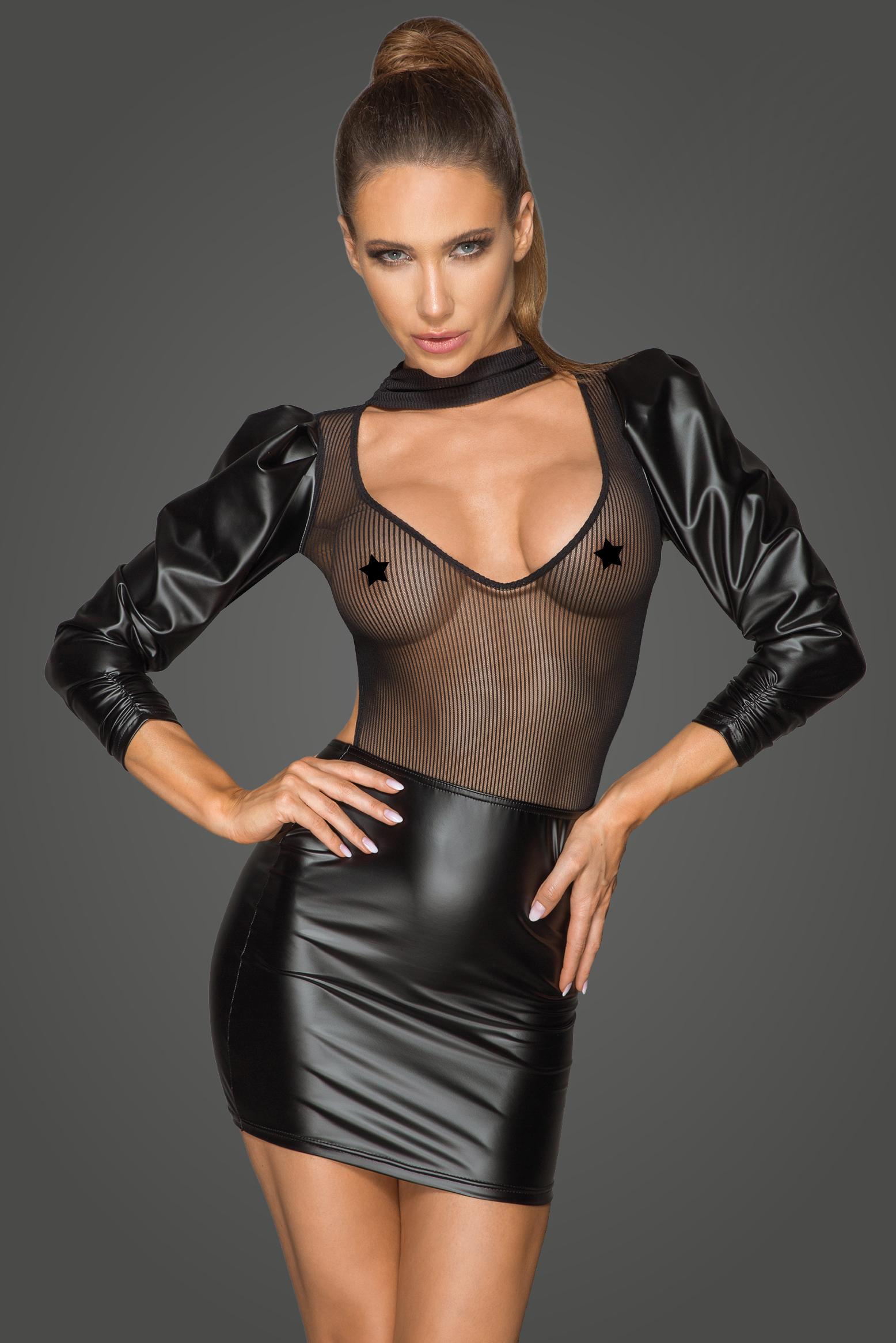 Powerwetlook Klänning i Retro-glam Style | LINGERIE & KLÄDER, PLUSSIZE, Fetish, Klänningar & Kjolar, Brands, Noir Handmade, KLÄDER TJEJ, Klänningar & Clubwear, FETISHKLÄDER TJEJ, Fetish Klänningar | Intimast.se - Sexleksaker