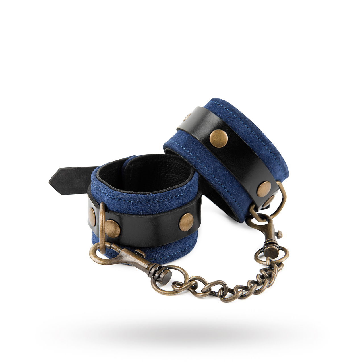 & Restrain Me - Luxury Blue Suede Wrist Cuffs | Brands, Please Be Kind Genuine Leather, INSPIRATION, SEXAKTIVITETER, Sex som i Fifty Shades of Grey, SEXLEKSAKER, BONDAGE & FETISH, Bojor & Fängsel | Intimast.se - Sexleksaker