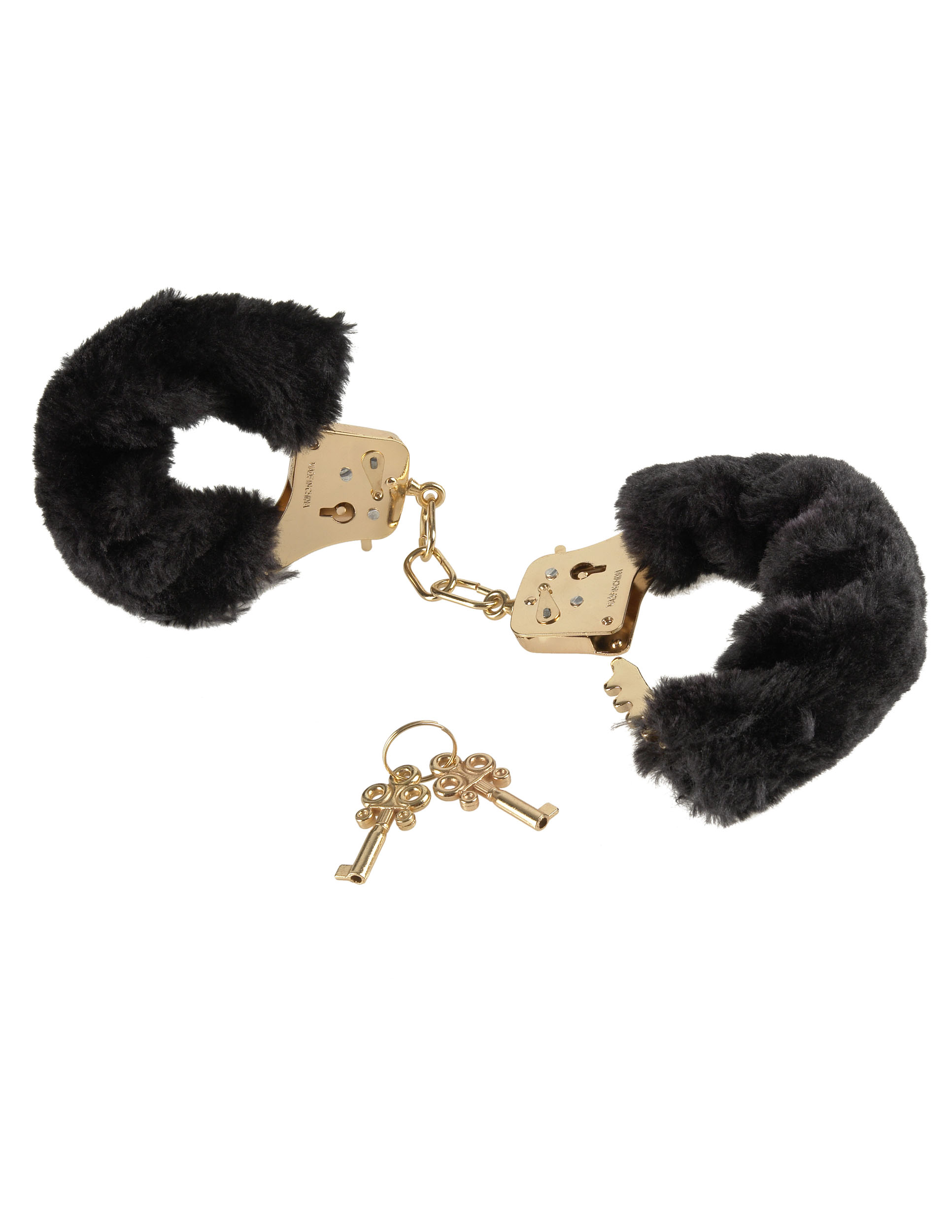 Deluxe Furry Cuffs Gold