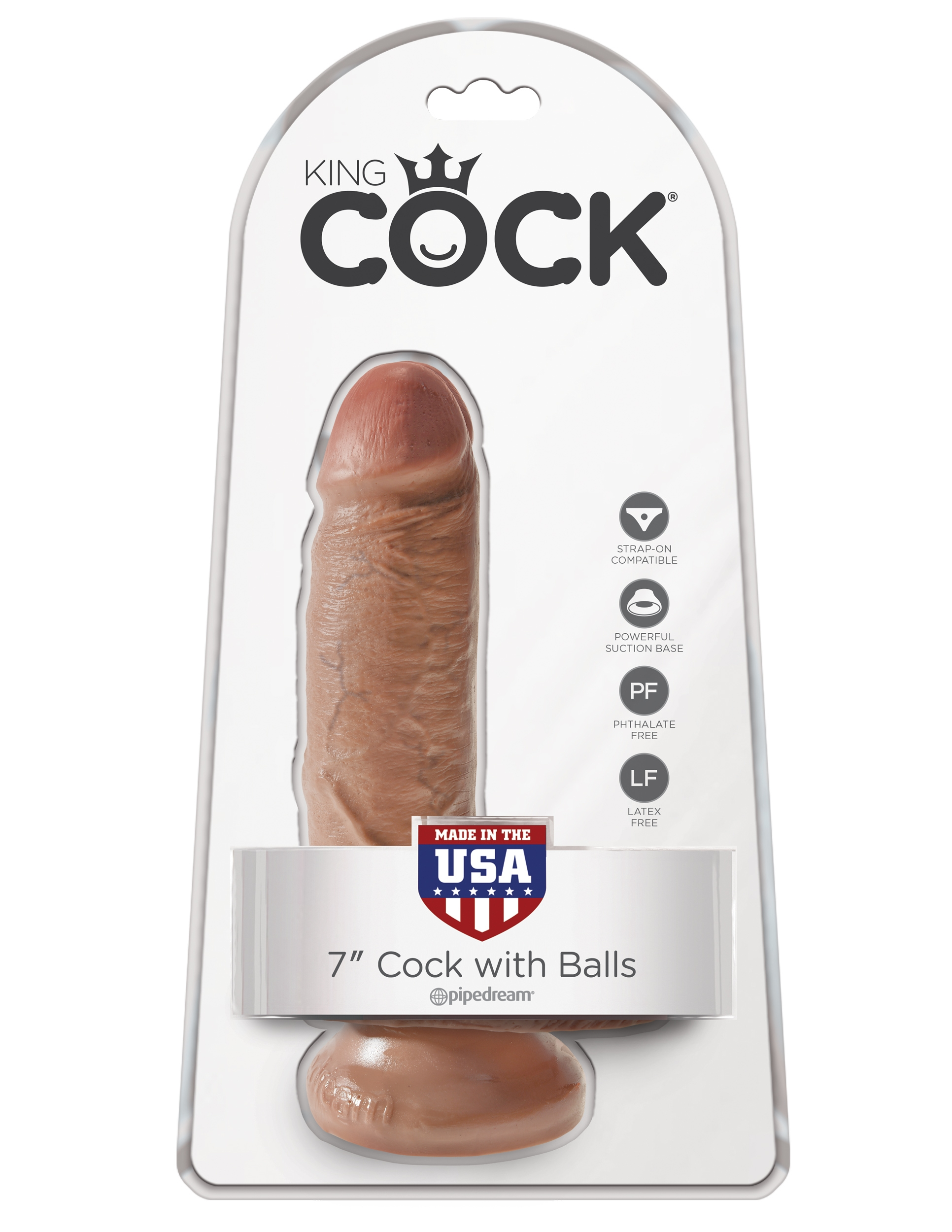 Cock with Balls 18cm - Tan