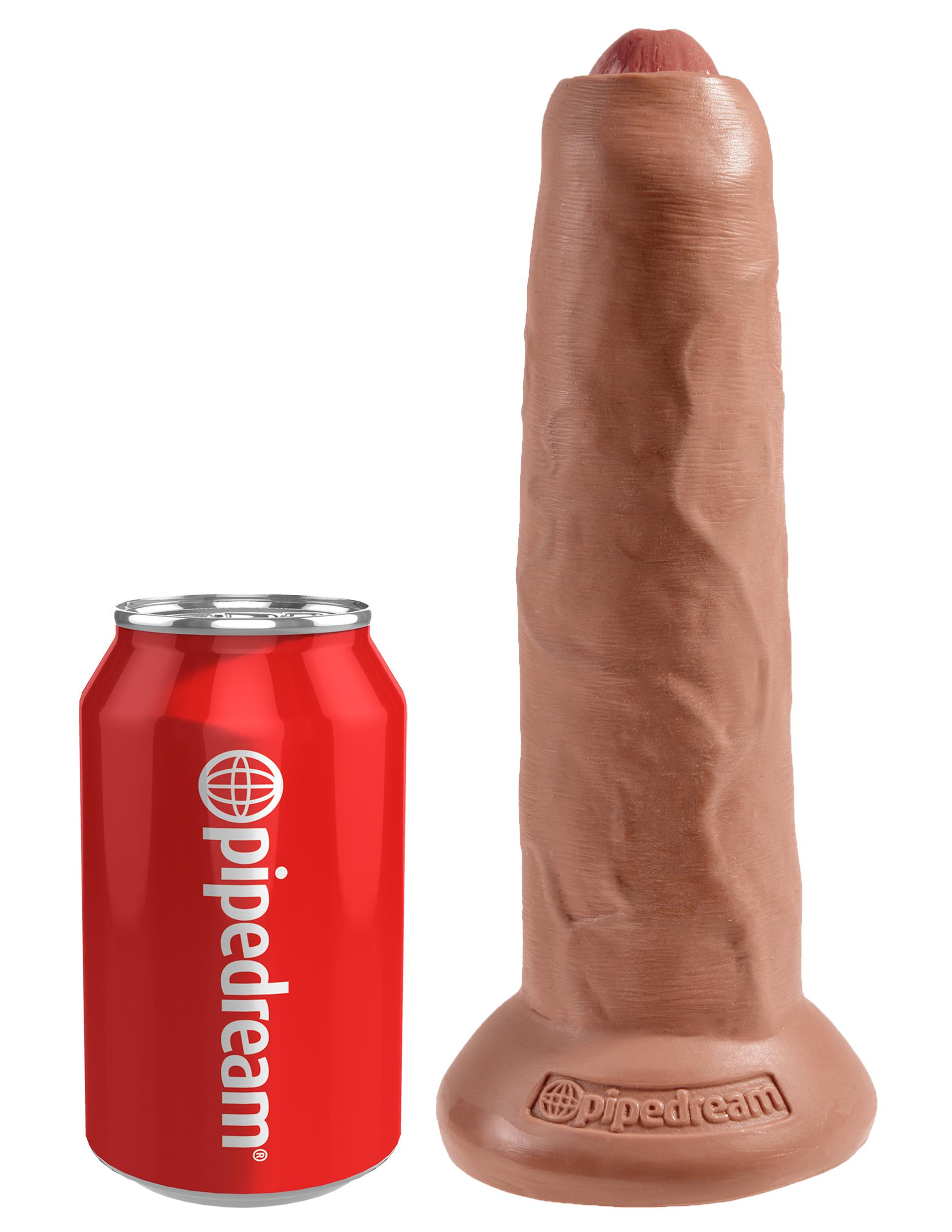 Uncut Cock 23 cm - Tan | Brands, Pipedream, King Cock, SEXLEKSAKER, MEST FÖR HENNE, Dildos & Dongar, Realistiska Dildos | Intimast.se - Sexleksaker