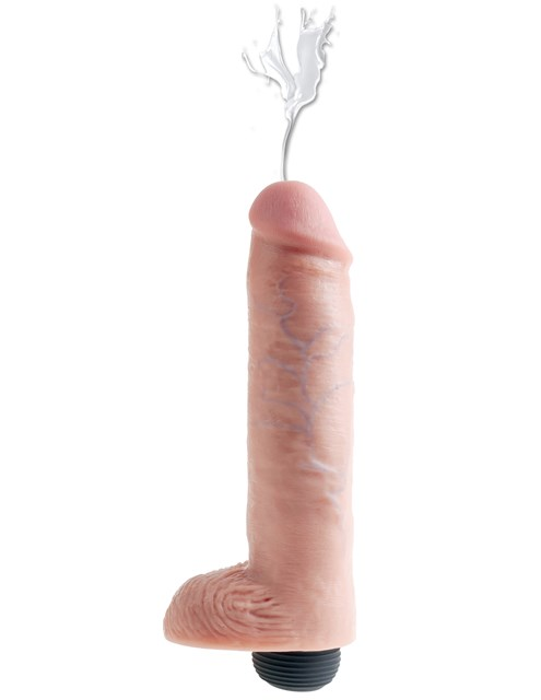 King Cock Squirting with Balls 26cm - Flesh
