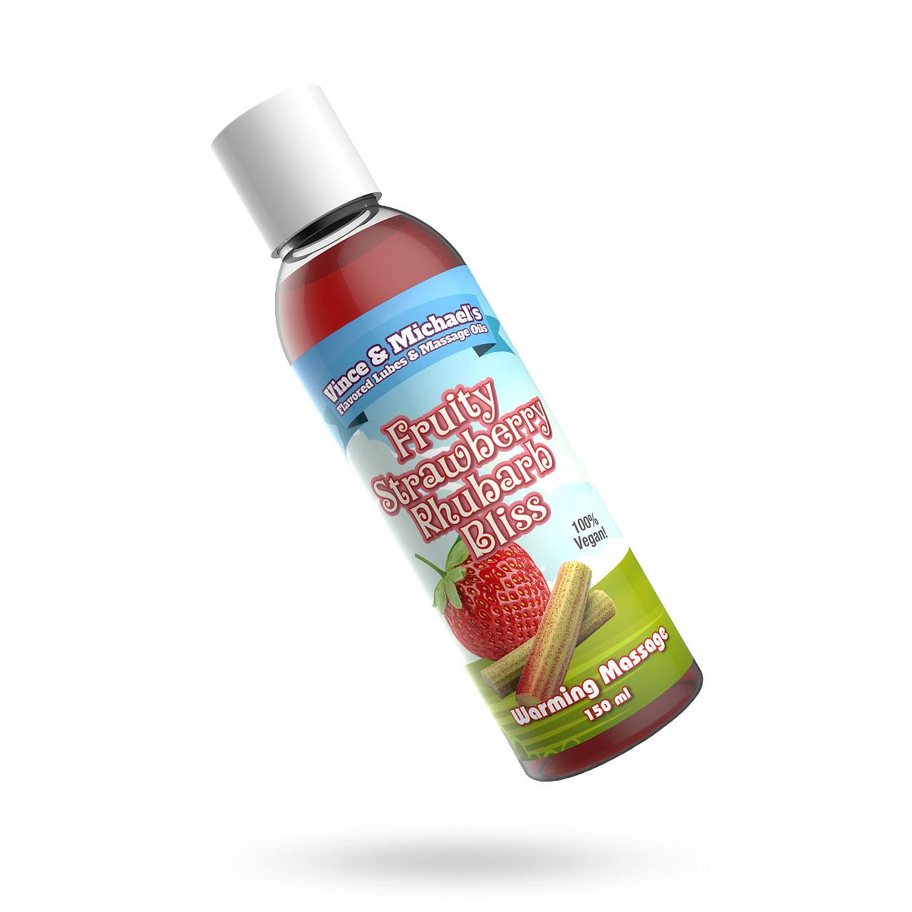Fruity Strawberry Rhubarb Bliss - Smaksatt massageolja