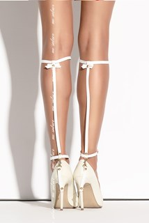 Queen of Hearts - Leg Harness SO 01 White