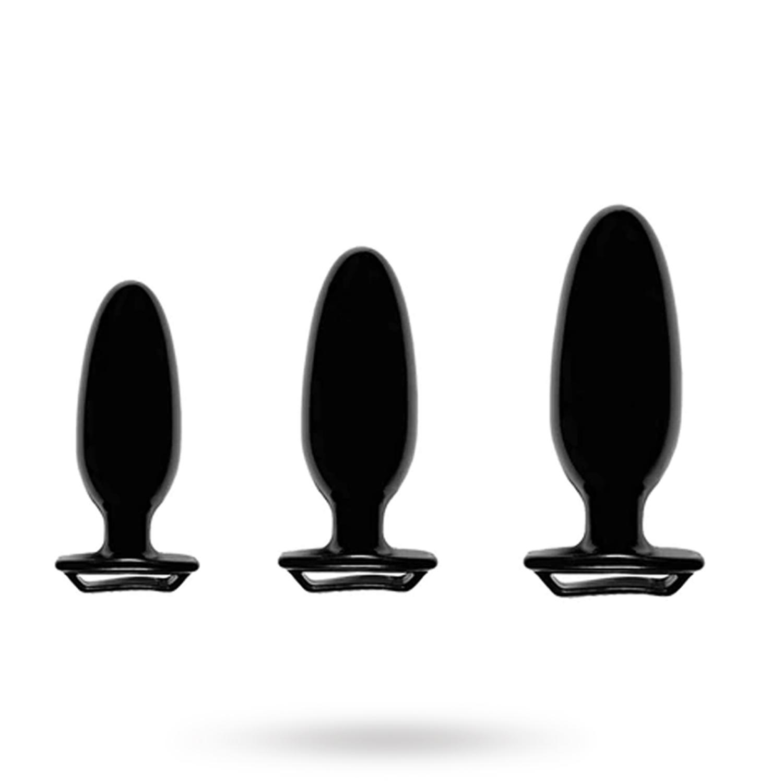 Finger Grip Plug Starter Kit - Black | SEXLEKSAKER, ANALT, Analpluggar | Intimast.se - Sexleksaker